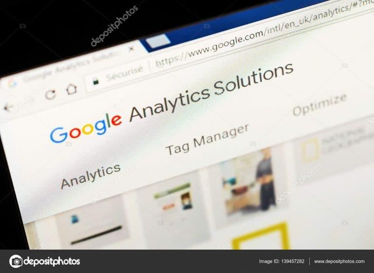 דף google analytics